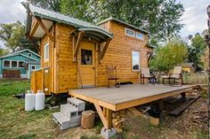 Welcome to the MitchCraft lovely tiny house on wheels