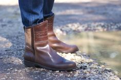 Blei Ji Nomadic Chic Boot Men $366 100% Handmade Vegetable tanned leather