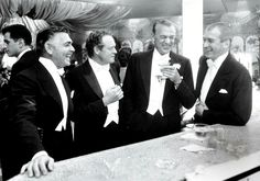Kings Of Hollywood: Clark Gable, Van Heflin, Gary Cooper, and Jimmy Stewart, 1957.