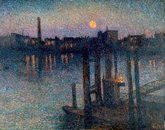 Maximilien Luce - Port de Londres, nuit