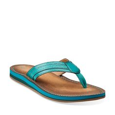 Flo Canterbury in Teal Synthetic - Womens Sandals from Clarks