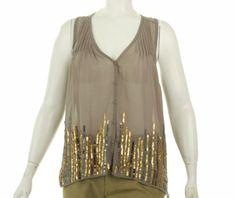 Petticoat Alley Sequin Border Shirt Grey M Petticoat Alley. $52.24. Save 23%!