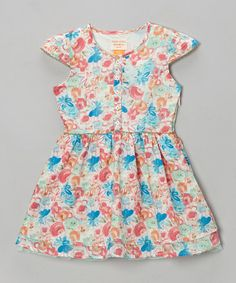 Take a look at this Porcelain Mulberry Dress - Toddler & Girls by Eddie & Stine by Eddie Bauer on #zulily today!