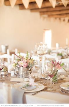 Rustic Styled Wedding Table Setting