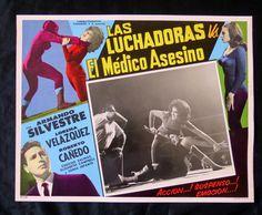 """LAS LUCHADORAS VS EL MEDICO ASESINO"" LORENA VELAZQUEZ N MINT LOBBY CARD PHOTO"