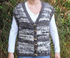 Hand knitted waistcoat / body warmer / gillet using hand spun Jacob sheep wool by RebeccasWool on Etsy Jacob Sheep, Body Warmer, Sheep Wool, Hand Spinning, Hand Knitting, Sweaters, Pictures, Etsy, Tops