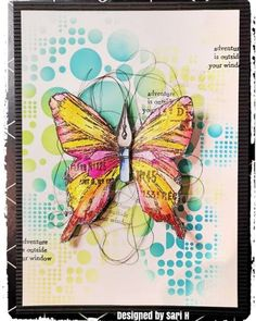 Aall & Create Stamp - Nature Elements by Tracy Evans - Aall & Create - HixxySoft Hand Made Greeting Cards, Making Greeting Cards, Mixed Media Cards, Paper Dolls Printable, Birthday Cards For Women, Art Journal Pages, Art Journaling, Card Making Techniques, Butterfly Cards
