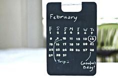 Make Your Own Perpetual Calendar With Blackboard Paint (via craft.tutsplus.com)