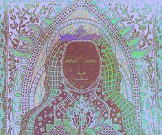Poslední česká královna Eliška Přemyslovna, 1292 - 1330 Perokresba 6/7/2016 Johana Hájková Detail upraveno