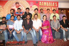 Aambala Movie Success Meet Stills  More Stills http://tamilcinema.com/aambala-movie-success-meet-stills/