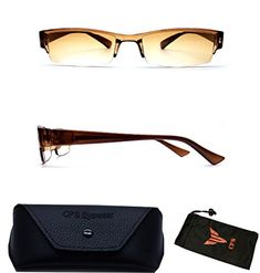 Men  Women Slim  Thin Frame Plastic Sun Reader Reading Glasses And Sunglasses Eyewear for Outdoor  FREE Hard Case  Cleaning Cloth  Strength  150  *** Want additional info? Click on the image.