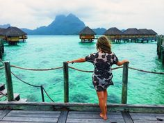 Stunning view from overwater bungalows at Bora Bora Pearl Beach Resort and Spa. Bora Bora, Tahiti, Pearl Beach Resort, Overwater Bungalows, Family Destinations, Stunning View, Underwater, Islands, Spa