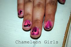 Chameleon Girls: Swirly Finger Nails