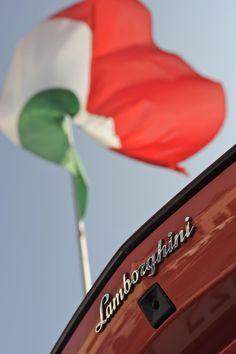 Italian Flag and Lamborghini.
