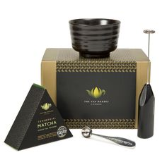 Modern Ceremonial Japanese Matcha Gift Set Modern Ceremonial Matcha Gifts Set with of matcha tea, electric whisk, ceramic matcha bowl and measuring spoon. Tea Gift Sets, Tea Gifts, Matcha Green Tea Powder, Green Powder, Matcha Bowl, Japanese Matcha, Spoon, Perfume Bottles, Electric