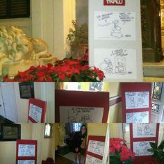 Mostra di vignette a tema Natale a Villa Vittoria S.Agata li Battiati, Catania.