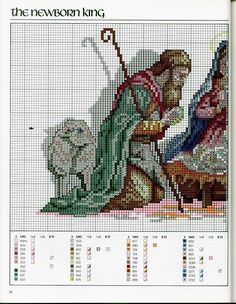 The Newborn King 1 Cross Stitch Needles, Cross Stitch Charts, Cross Stitch Designs, Cross Stitch Patterns, Cross Stitch Christmas Stockings, Christmas Cross, Cross Stitching, Cross Stitch Embroidery, Religion