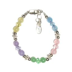 Amazon.com: Tiffany Sterling Silver Childrens Girls Bracelet Jewelry Sparking and shiny multi-colored genuine jade stones with beautiful Czech crystals! Size Large 6-13 Years, Childrens Jewelry: Jewelry