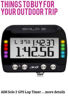 (This is an affiliate pin) AIM Solo 2 GPS Lap Timer Camping Gadgets, Digital Alarm Clock, Things To Buy