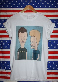 Beavis and Butthead T-shirt mtv cartoon 90s retro grunge