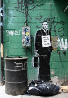 Banksy - Will work for idiots