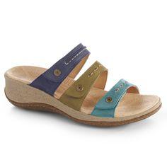de2d1f2fdea6 Acorn VISTA WEDGE 3-STRAP Sandals for Women - Comfort to Go - Collections -