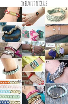 16 DIY Bracelet Tutorials - part of a huge roundup of 51 DIY Jewelry Tutorials!