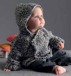 Modèle gilet mouliné bébé - Modèles tricot layette - Phildar