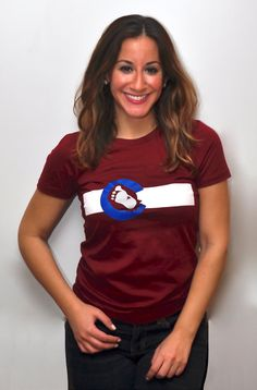 Colorado Avalanche / Colorado Flag Ladies' TShirt by MileHighRefry