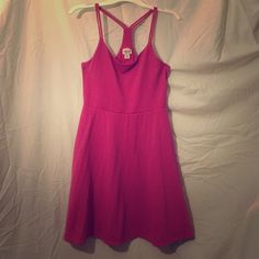 Lady in pink! Skater girl dress with razor back. 95% polyester 4% spandex. Can tell it's been worn, price way reduced. Xhilaration Dresses Midi