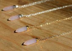 Rose Quartz Energy Shop #Fertility Necklace