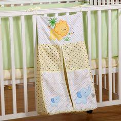 3.2% Cashback + 14% OFF - Printed Cotton Baby Bedding Sets Cot Hanging Storage Bag Baby Bedding Bottles Diaper Large Miscellaneously Storage Bag - $13.75