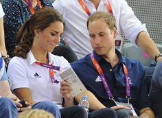 When Prince William read Catherine's nametag as she rested her hand on his knee. via @stylelist