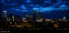 Charlotte North Carolina Panoramic Image by Chris Flees #artforsale #buyart