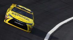 CHARLOTTE, NC - OCTOBER 08: Matt Kenseth, driver of the #20 Dollar General Toyota, practices for the NASCAR Sprint Cup Series Bank of America 500 at Charlotte Motor Speedway on October 8, 2015 in Charlotte, North Carolina. (Photo by Sarah Crabill/NASCAR via Getty Images)