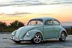 Mint green VW Bug