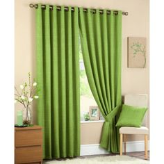 Best 11 Lime Green Curtains for Your Home – # Genel - Landlikes Sites Living Room Green, Living Room Windows, Bedroom Green, Small Living Rooms, Curtains Living, Bedroom Curtains, Lime Green Curtains, Cream Curtains, Lined Curtains