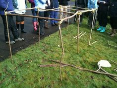 Outdoor Maths: Creating 3D Shapes from Sticks