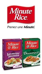 1$ de rabais sur une boîte de riz au jasmin ou basmati Minute Rice