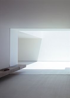 Interior view of the terrace of the White Cave House by Takuro Yamamoto Architects _
