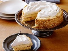 Spiced Pumpkin Icebox Cake : For your Thanksgiving get-together, make this chilled twist on a favorite holiday pie a day in advance, so you can focus on other dishes. Or enjoy it in summer for a cool treat with autumn spices and flavors. Pumpkin Recipes, Spiced Pumpkin, Pumpkin Spice, Pumpkin Bars, Potato Recipes, Fall Recipes, Holiday Recipes, Pumpkin Squash, Pumpkin Pumpkin