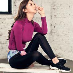 568a79ba56537 Women Autumn Fitness Gym Sports Print Yoga Sets Long Sleeve Yoga T-shirts &  Pant