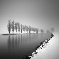 Hasselblad 503CW, Phase One P. In Nature, Scenery, Waterscape. Strictly Motionless In The Chill Of Winter, photography by Pierre Pellegrini. Image #427510