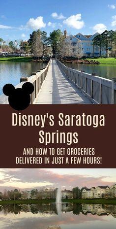 Disney World Saratoga Springs Resort - Shore Family Home Disney Hotels, Disney World Resorts, Disney Vacations, Disney Travel, Vacation Destinations, Family Vacations, Saratoga Springs Disney, Saratoga Springs Resort, Disney Springs