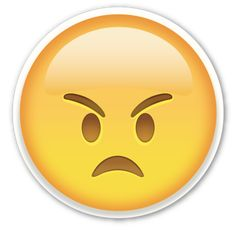 Angry Face | EmojiStickers.com