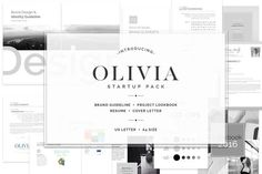 Best OLIVIA Brand Guideline Startup Pack  CreativeWork247 - Fonts, Graphics...