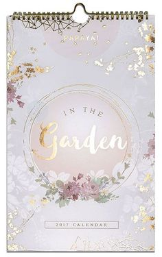 Garden 2017 Wall Calendar - Papaya Art. What a great gift this makes as this wall calendar is dripping in gold embellishments with amazing graphic illustrations from our fav Papaya Art. Grab your's while supplies last!