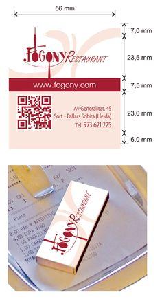 Propuesta Caja de Cerillas para Restaurante Fogony en Lleida.