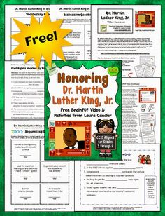 Dr. Martin Luther King, Jr. was one of the greatest leaders of our time, and I believe it's important to honor him and recognize the impact that he had on America. However, as a classroom teacher I struggled to find appropriate teaching materials for elementary students on this topic.So I was excited to discover that BrainPOP.com has a wonderful free video called Dr. Martin Luther King, Jr. that's perfect for upper elementary students! It's just 4 minutes long and features two lo...