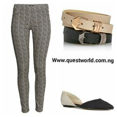 #jeans #ballerina #belts Nationwide Delivery. Pay on delivery within Lagos. Www.questworld.com.ng